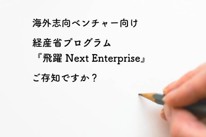 「グローバル・ベンチャー・エコシステム連携強化事業(飛躍 Next Enterprise)」1