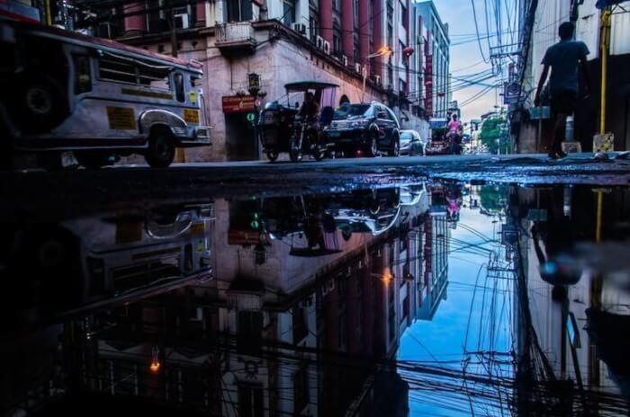 フィリピン 雨上がり