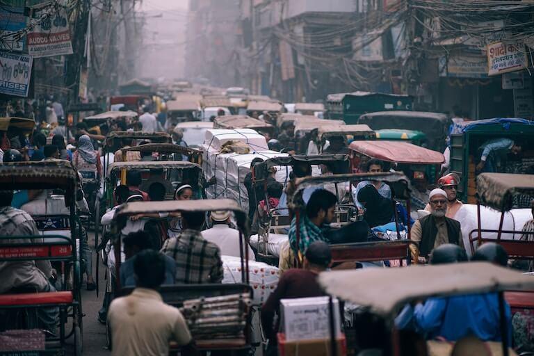 インド  渋滞