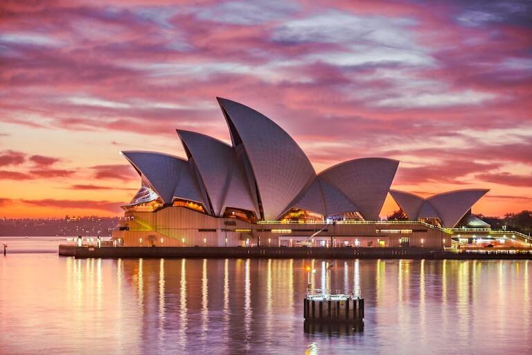 オーストラリア 夕焼け