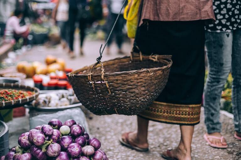 ラオス 市場