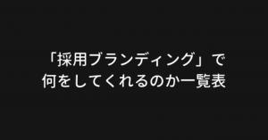 """山口流""""採用ブランディング""""のお品書き"""