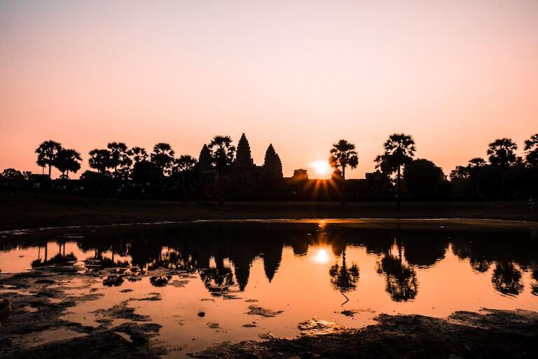 カンボジア 夕焼け